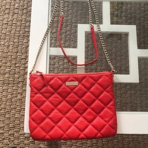Kate Spade Red Quilted Crossbody Bag